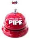 Sonnette de table - Pipe - La sonnette de réception  dédiée aux demandes très particulières!