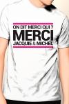 T-shirt Jacquie & Michel n°9 - Tee-shirt officiel (visuel 9, blanc) à l'effigie de  Jacquie & Michel, votre site amateur préféré.