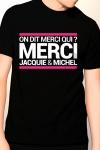 T-shirt Jacquie & Michel n°10 - Tee-shirt officiel (visuel 10, noir) à l'effigie de  Jacquie & Michel, votre site amateur préféré.