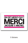 Pack 5 stickers J&M n°5