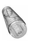 Masturbateur Main Squeeze Optix - Puissant masturbateur pour hommes, 100% transparent, avec boitier extérieur rigide, par Doc Johnson.