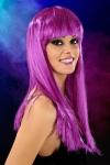 Perruque cheveux longs Violet